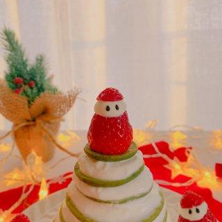 全麦圣诞🎄松饼蛋糕 低卡减脂甜品 免烤...