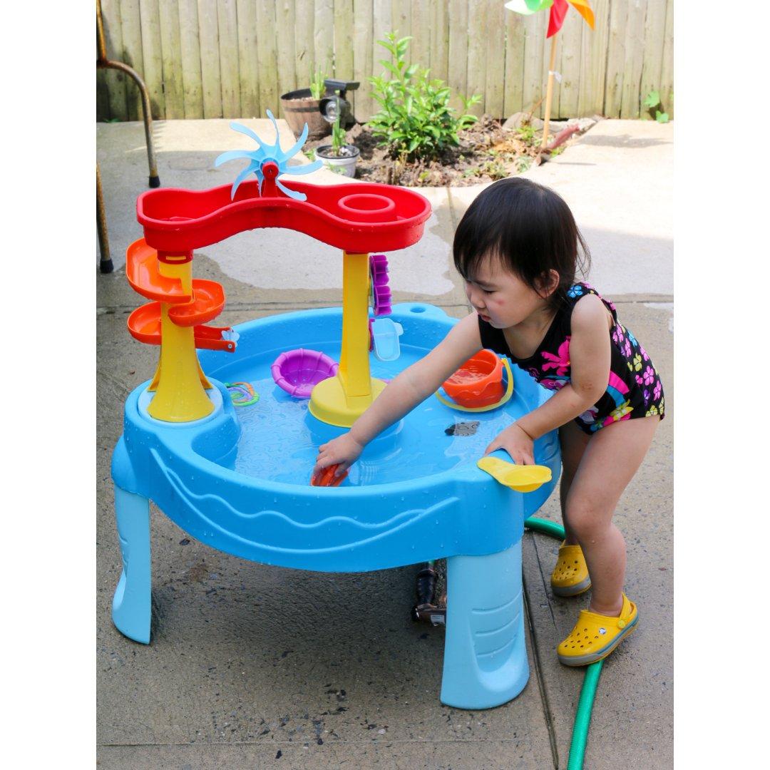 夏天就是要玩水 Costco儿童水桌...