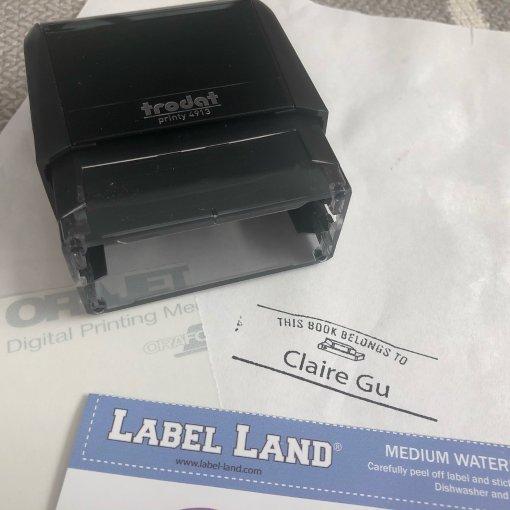 晒晒Label Land订制个人标签
