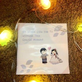 关于婚礼的记忆……自己设计的请帖...