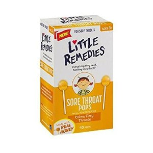 Amazon.com: Little Remedies Sore Throat Pops, 10 Count, Calms Fiery Throats, Ages 3+: Health & Personal Care