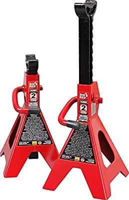 $14Torin Big Red Steel Jack Stands: 2 Ton Capacity, 1 Pair