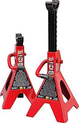 $8Torin Big Red Steel Jack Stands: 2 Ton Capacity, 1 Pair