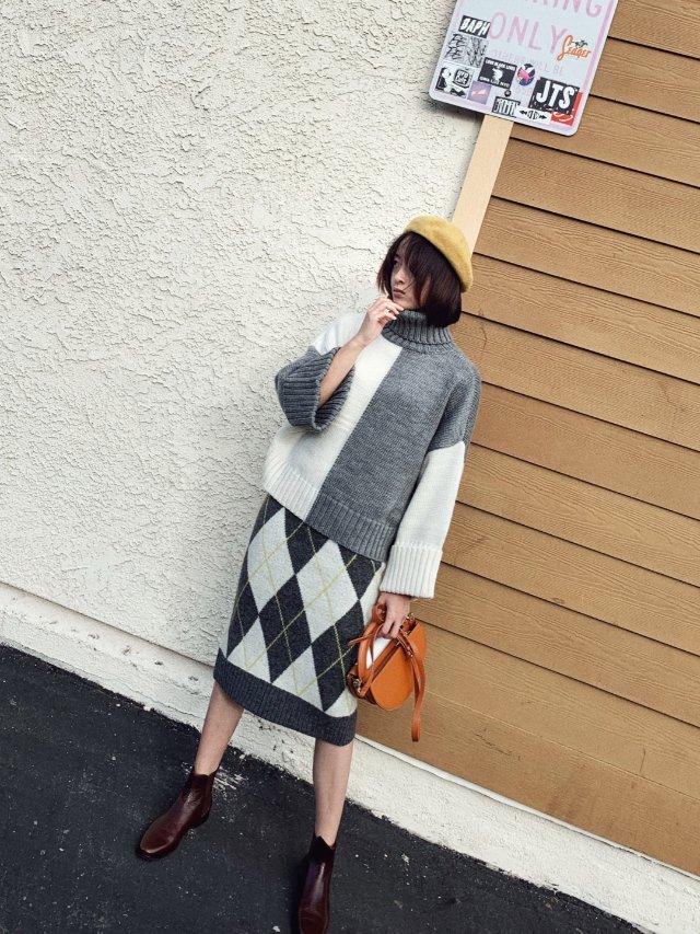今日之服|拼色毛衣的色彩