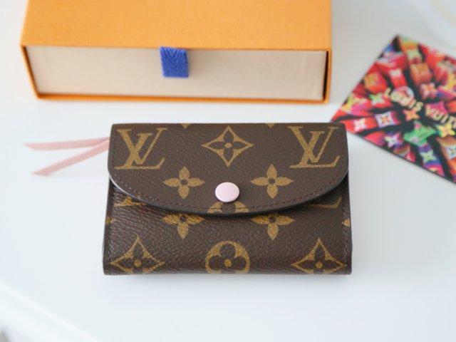 LV Rosalie 芭蕾粉零钱卡包