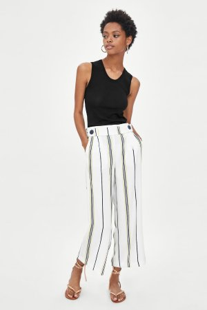 FLOWY ANKLE PANTS WITH BELT-PANTS-WOMAN   ZARA United States