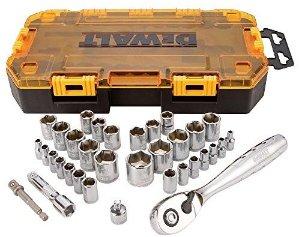 DEWALT DWMT73804 Drive Socket Set (34 Piece), 1/4