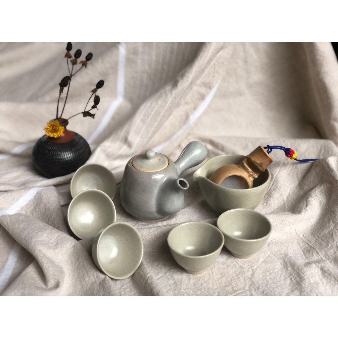 韩国青瓷茶具,一点国风,一点和风