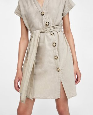 SHIRT DRESS WITH BUTTONS-Summer dresses-DRESSES-WOMAN-AW/18 | ZARA United States