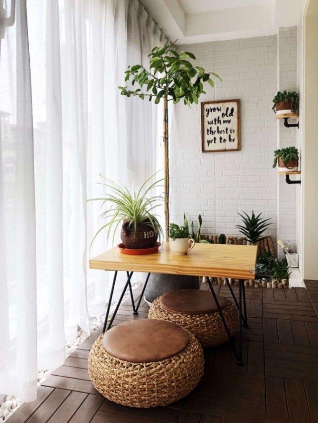 实用和趣味想结合的完美小阳台