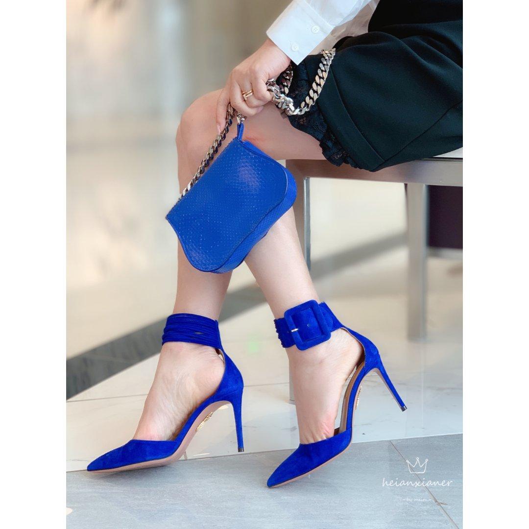 包包鞋子同一色🦋宝蓝色