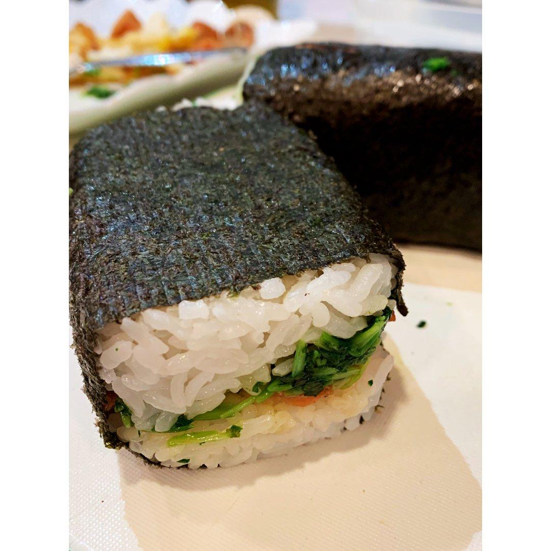 下半年要好好吃早餐:紫菜米饭三文鱼...