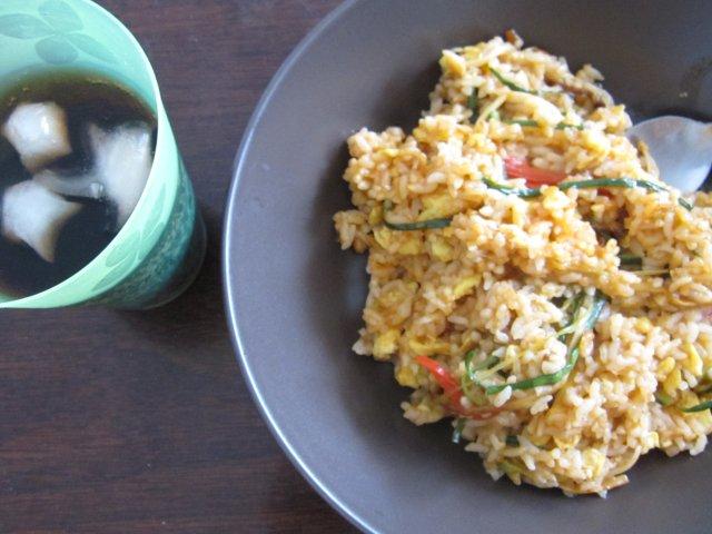 感恩节小餐:彩丝蛋炒饭