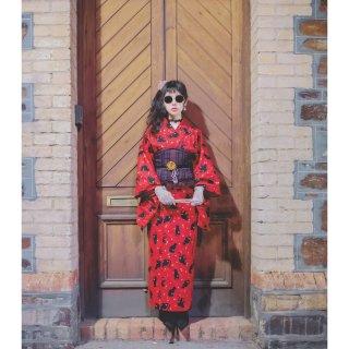 西洋風下的大正浪漫✨宅家手工縫製日式浴衣...
