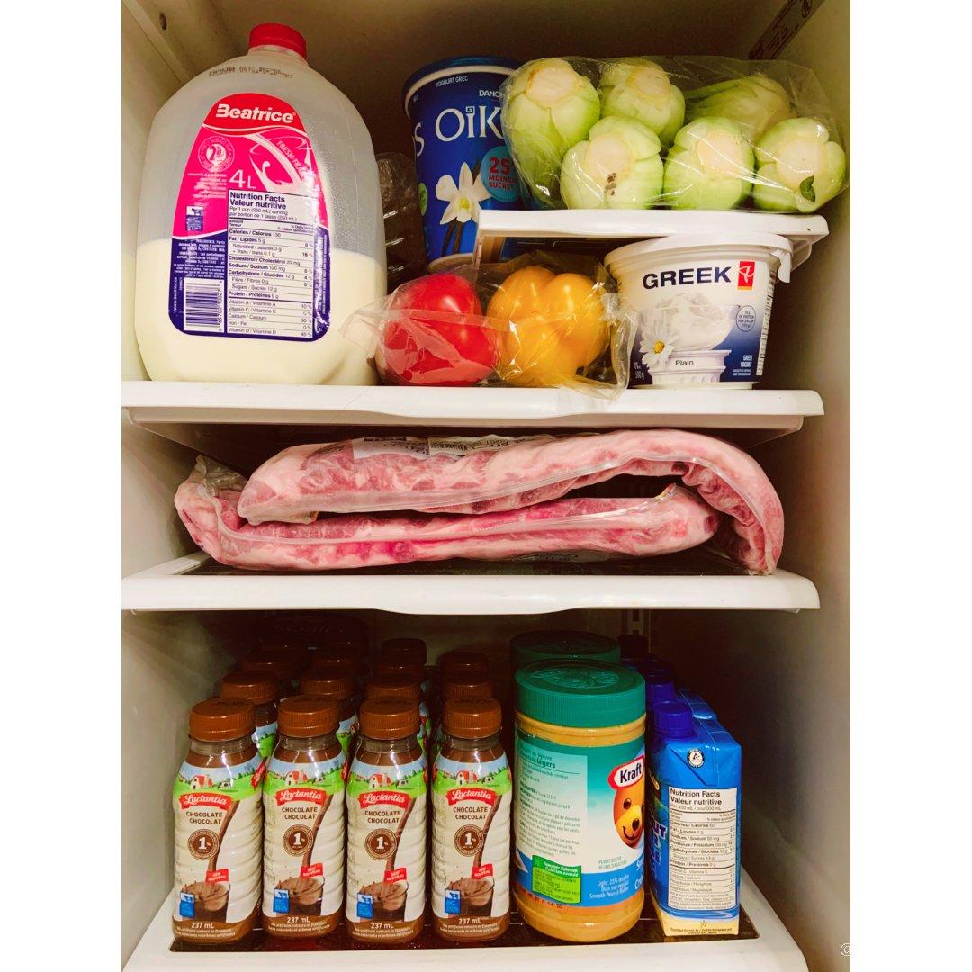 冰箱补货成功,又可以安心宅家好多天😂