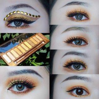 6种眼妆实测UD新品🍯HONEY眼影盘🍯我是勤劳的小🐝
