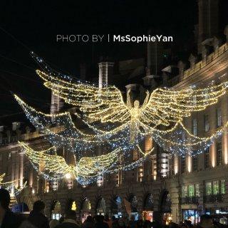 伦敦摄政街点灯...