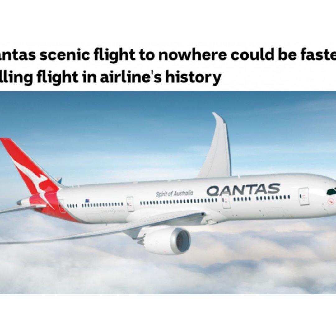 """澳航推出 """"无目的地""""观光航班✈️,机票..."""