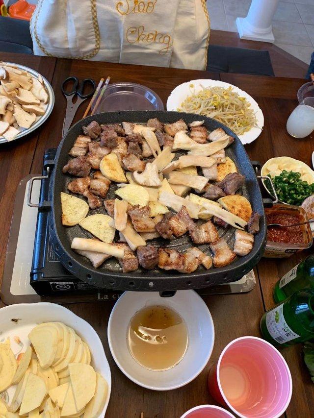 年夜饭预热局,吃完烤肉吃火锅🍲