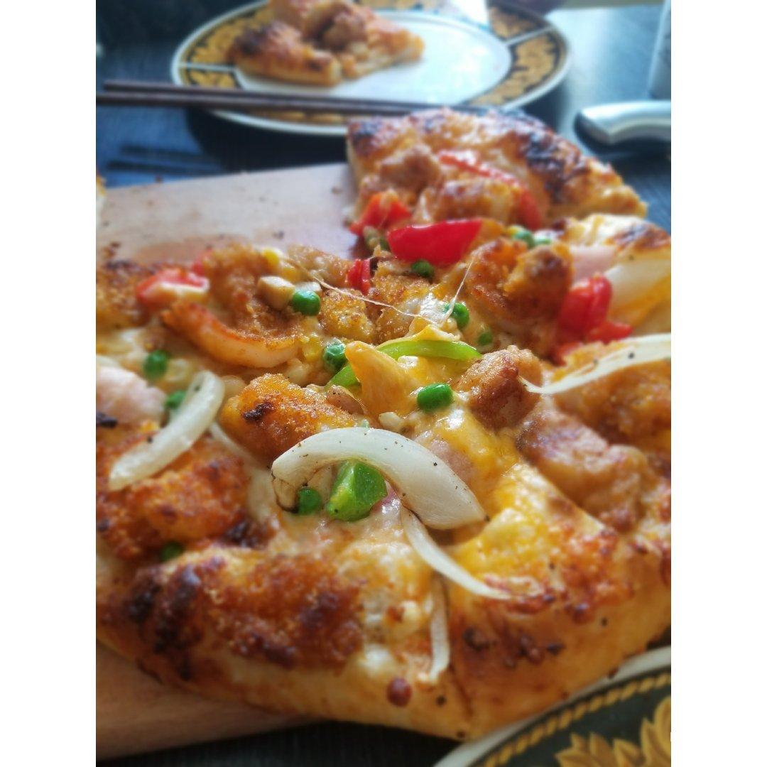 【日常午餐】三味披萨