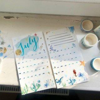7 月手账set up~~~...