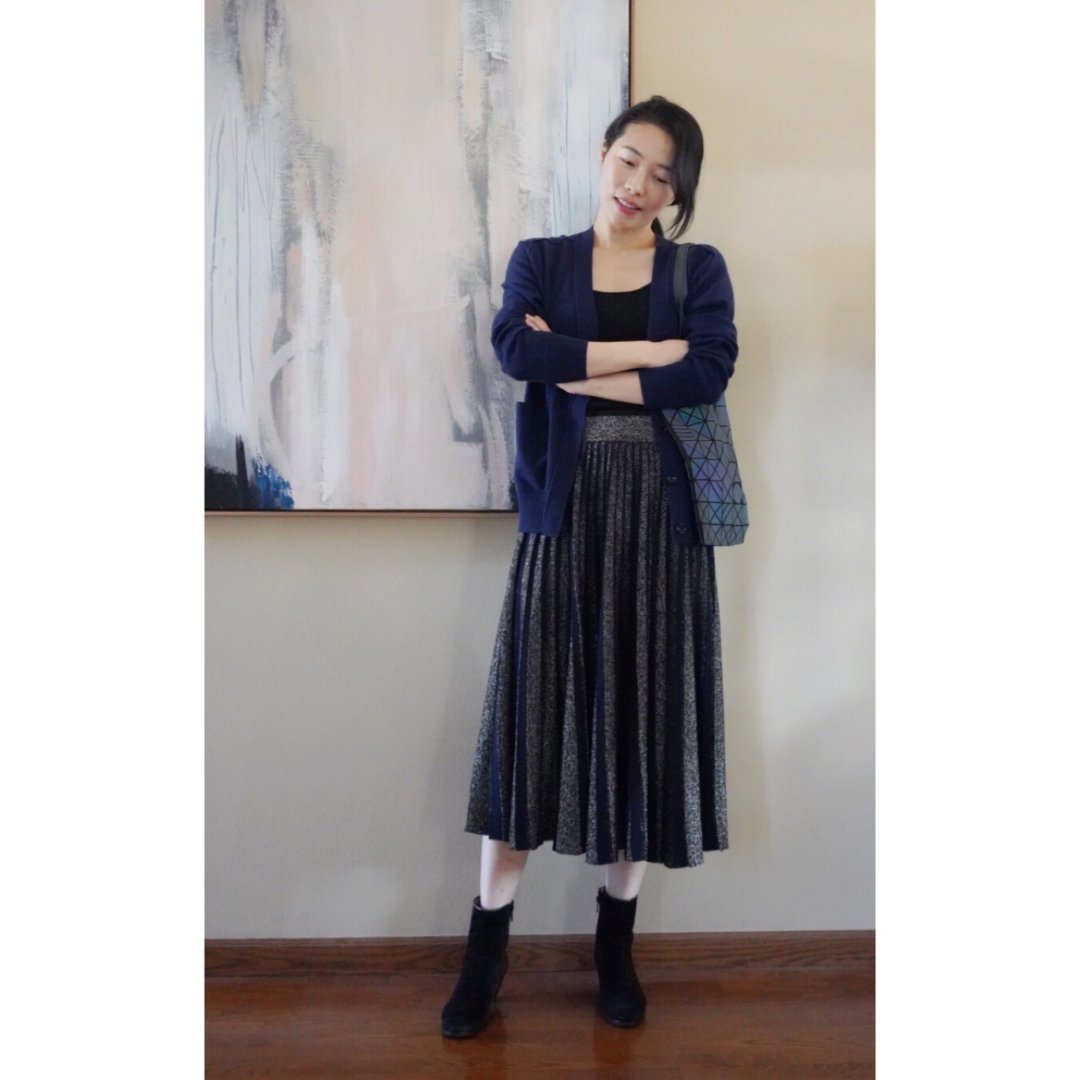 knitted pleats