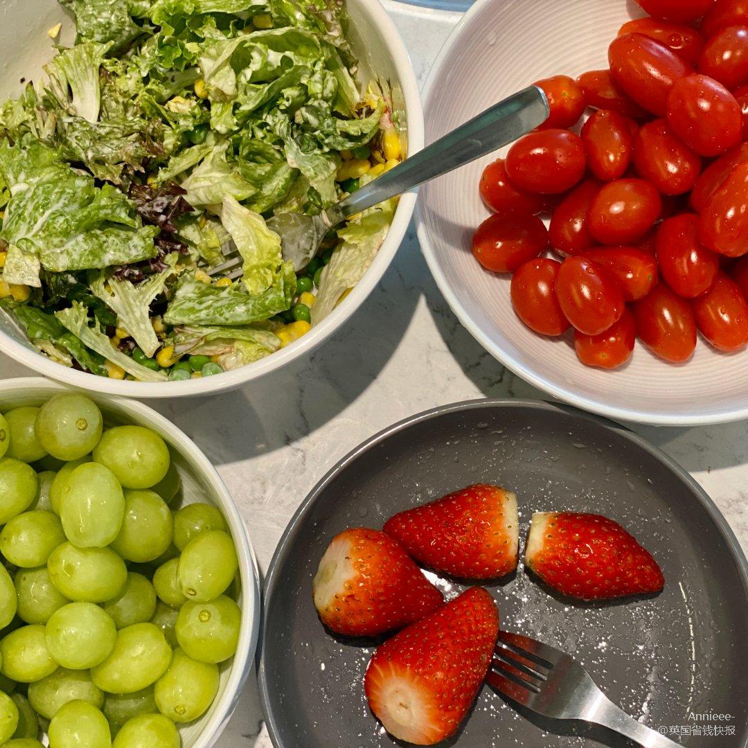 素食|草莓🍓葡萄🍇番茄🍅沙拉🥗...