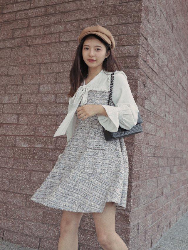 🍂秋天穿啥子系列🥐小香风裙裙飘起奶呀😚