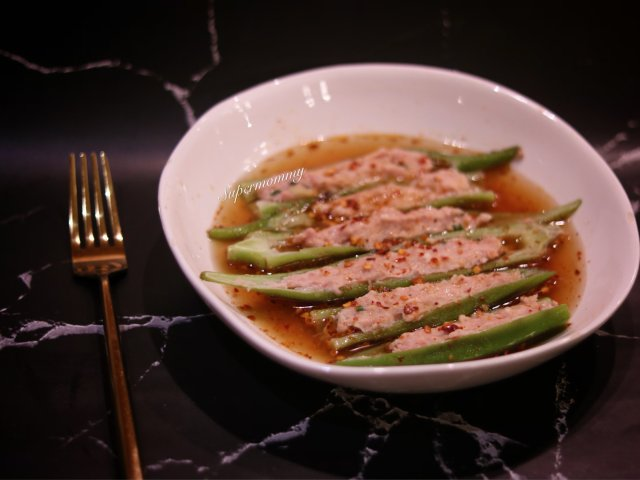 ❤️秋葵镶虾/好吃到一下吃掉一盘❤️