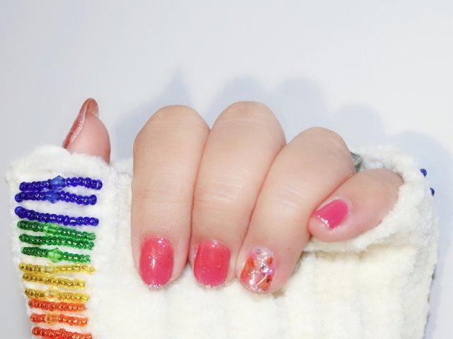 🌸少女感🌸满满的粉色美甲