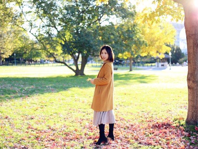 亮色大衣怎么搭 优衣库毛衣超级温柔优雅
