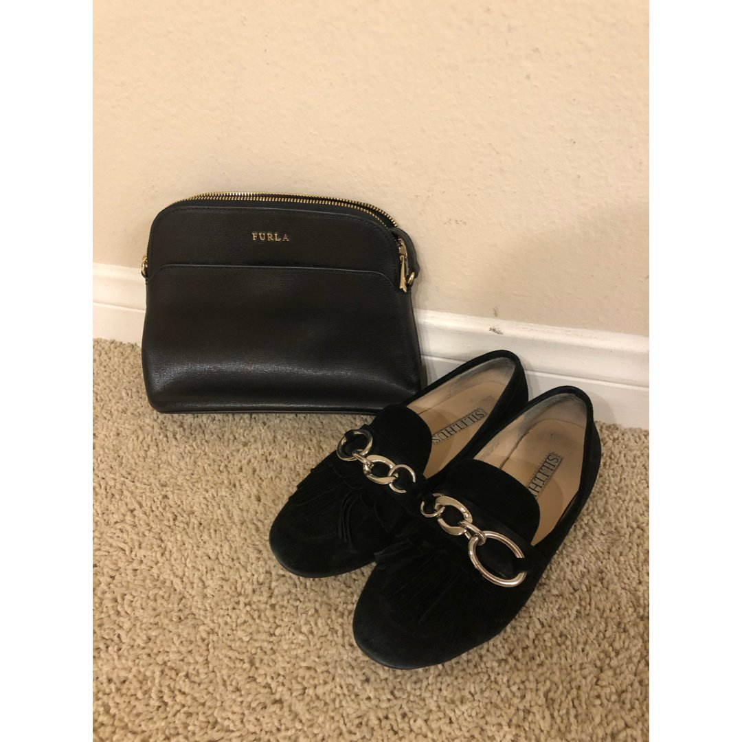 【搭配】今天的我是黑色的~鞋包同色...