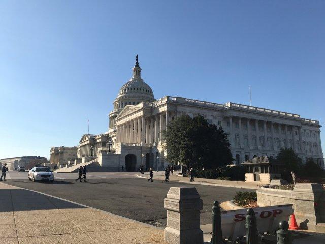 在DC玩耍时去过两次国会,...