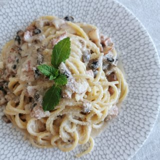 奶油蘑菇意面,pasta