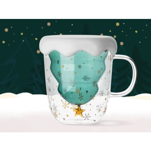 提早到来的圣诞惊喜-满杯可爱的雪夜圣诞🎄