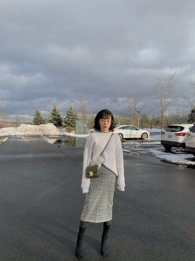 穿搭分享:白色的冬天跟白色的穿搭