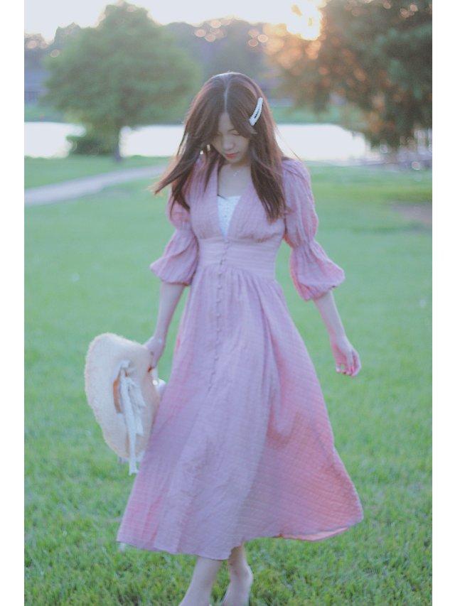 穿搭   早秋款宫廷风法式连衣裙👗👗