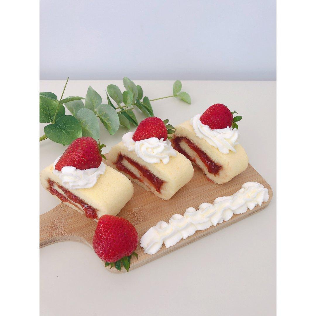 夏日甜品|草莓瑞士卷