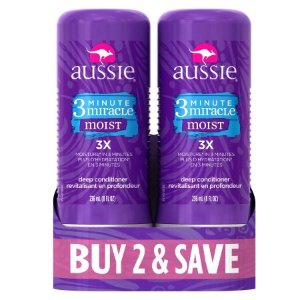 $4.94Aussie 3 Minute Miracle Moist Deep Conditioning Treatment, 8 Fl Oz (Pack of 2)