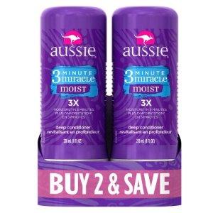 $4.94 平价好用Aussie 3 Minute 奇迹深层保湿发膜 2瓶装