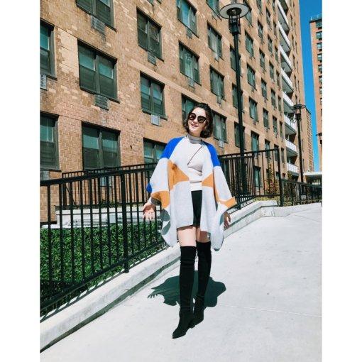 身为靴子控+围巾披肩控~最爱的还是纽约的初冬