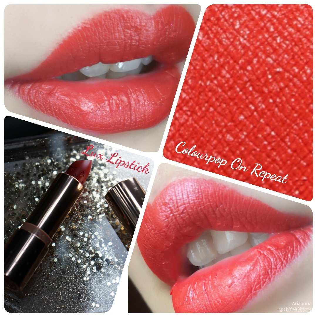 超美暖红色口红~Colourpop...