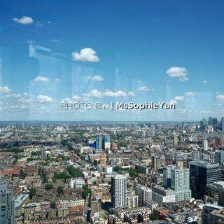 伦敦美食 在伦敦的高楼吃鸭腿华夫看美景...