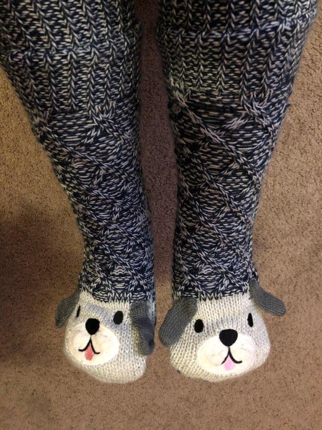 暖暖的地板袜