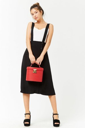 Button-Front Overall Skirt | Forever 21