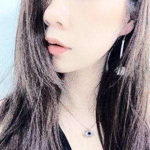 Lovely 项链 +耳钉套装 玫瑰金