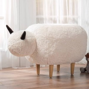 Google Express - Pearcy Velvet Sheep Ottoman by Christopher Knight Home