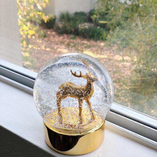 Lenox麋鹿水晶球小摆件