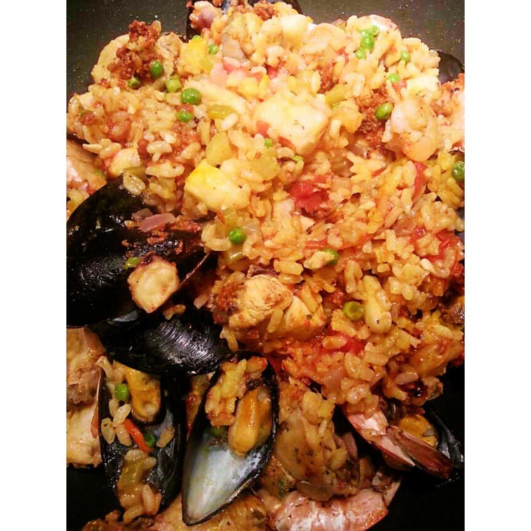 家喻户晓的西班牙paella海鲜烩饭✨✨