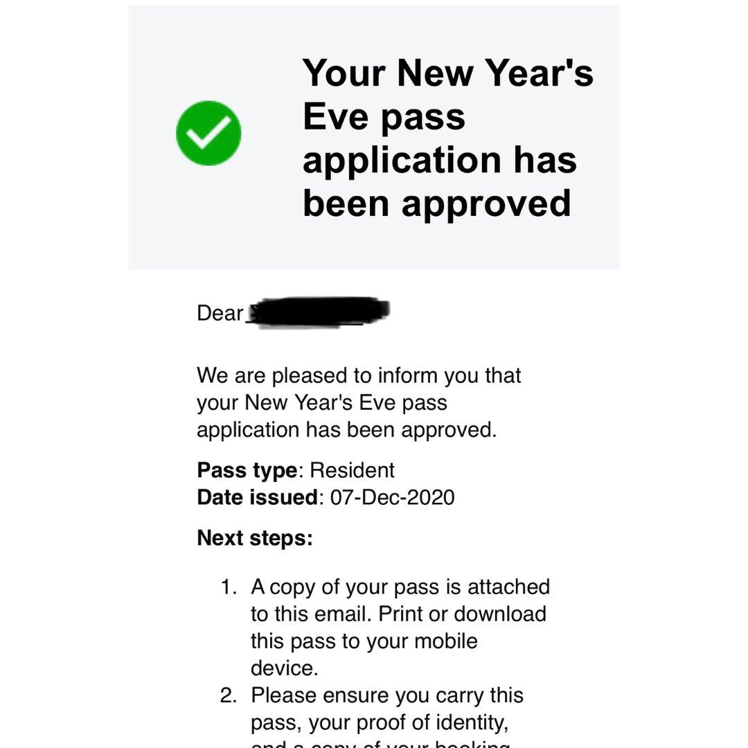 我申请到跨年烟花许可证啦...